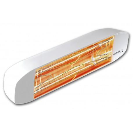 Chauffage électrique radiant lampe infrarouge IRC HELIOSA 11 - 1500 WATTS IPX5 Blanc