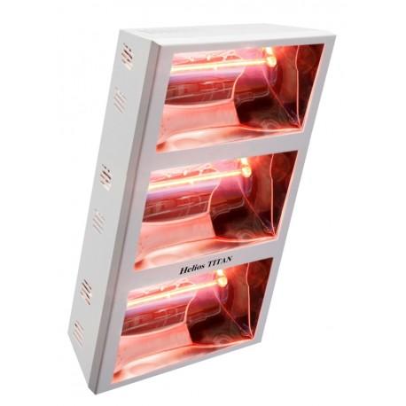 Chauffage électrique radiant lampe infrarouge IRC HELIOS TITAN EHTV3-60T - 6000 WATTS IP25 MONO/TRIPHASE WATERPROOF