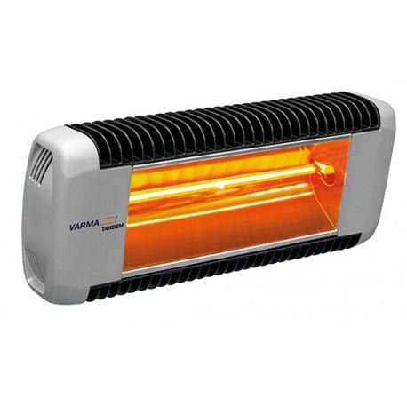 Chauffage électrique radiant lampe infrarouge IRC VARMA TANDEM - 1500 WATTS IPX5