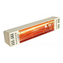 Chauffage électrique radiant lampe infrarouge IRC VARMA TOP - 1500 WATTS IPX5 Crème