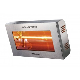Chauffage électrique radiant lampe infrarouge IRC VARMA 400 INOX BRILLANT - 1500 WATTS IPX5