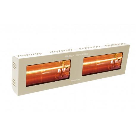 Chauffage électrique radiant lampe infrarouge IRC VARMA 400/2 - 3000 WATTS IPX5 Crème