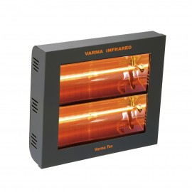 Chauffage électrique radiant lampe infrarouge IRC VARMA 400/2V - 3000 WATTS IPX5 Fer forgé