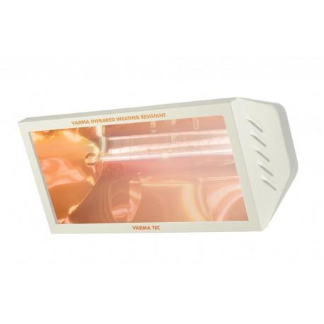 Chauffage électrique radiant lampe infrarouge IRC VARMA WR65/20 - 2000 WATTS IPX5 Crème