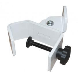 Fixation pour profiles ronds ou carrés verticaux - Ouverture jusqu'à 66mm Blanc