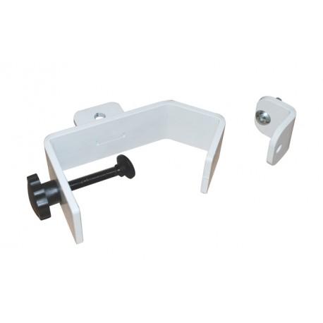 Fixation pour profiles ronds ou carrés verticaux - Ouverture jusqu'à 100mm Blanc