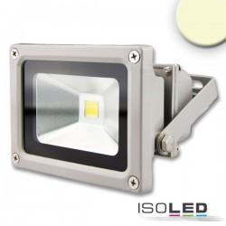 Projecteur LED 10 W, blanc chaud, argenté mat, IP65