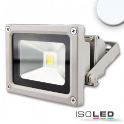 Projecteur LED 10 W, blanc froid, argenté mat, IP65