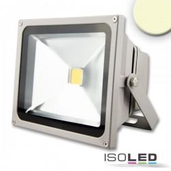 Projecteur LED 30 W, blanc chaud, argenté mat, IP65
