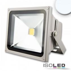 Projecteur LED 30 W, blanc froid, argenté mat, IP65