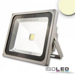 Projecteur LED 50 W, blanc chaud, argenté mat, IP65