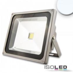 Projecteur LED 50 W, blanc froid, argenté mat, IP65