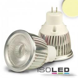 Lot de 6 Ampoules LED MR11 3 W COB, 38°, blanc chaud