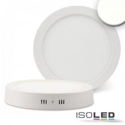 Plafonnier LED blanc, 18W, rond, 220 mm, IRC80, 4000K