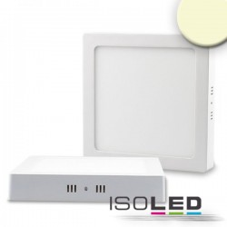 Plafonnier LED blanc, 18W, carré, 220x220 mm, IRC80, 3000K