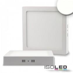 Plafonnier LED blanc, 18W, carré, 220x220 mm, IRC80, 4000K