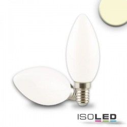 Lot de 6 bougies LED E14, 4W, opaque, blanc chaud, grad. par TRIAC