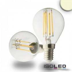 Lot de 6 Illu LED E14, 4W, transparent, blanc chaud, grad. par TRIAC