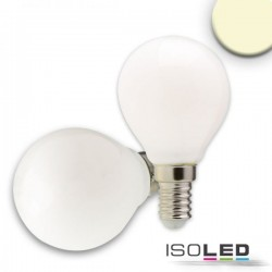 Lot de 6 Illu LED E14, 4W, opaque, blanc chaud, grad. par TRIAC