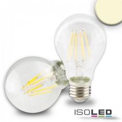 Lot de 6 ampoules LED E27, 5W, transparent, blanc chaud, grad. par TRIAC