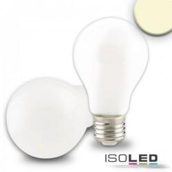 Lot de 3 ampoules LED E27, 8W, transparent, blanc chaud, grad. par TRIAC