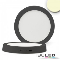 Plafonnier LED noir, 24W, rond, 300 mm, IRC80, 3000K, grad TRIAC