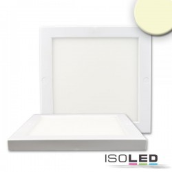 Plafonnier Slim 18 mm, blanc, 18 W, transformateur intégré, blanc chaud