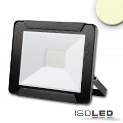 Projecteur LED 30 W, blanc chaud, noir, IP65