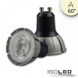 Lot de 3 ampoules LED GU10 spectre complet 7 W COB, 60°, 3'000 K, à intensité variable