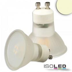 Lot de 6 ampoules LED GU10 3W, 270°, opale, blanc chaud, grad. par TRIAC