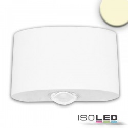 Lot de 2 Appliques LED direct/indirect 2*2W CREE, IP54, blanc sable, blanc chaud