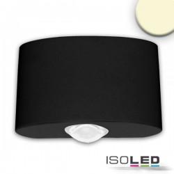 Lot de 2 appliques LED direct/indirect 2*2W CREE, IP54, noir sable, blanc chaud