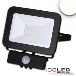 Projecteur LED sym avec détecteur de mouvement PIR, 30W, noir, IP65, blanc neutre, 4000K
