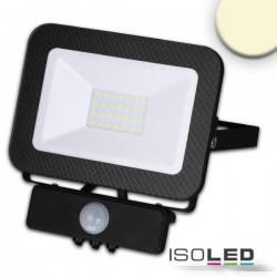 Projecteur LED sym avec détecteur de mouvement PIR, 30W, noir, IP65, blanc neutre, 3000K
