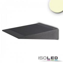Applique LED SOLAR avec détecteur de mouvement HF, 2W, IP54, blanc chaud, avec batterie