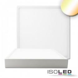 Plafonnier LED PRO blanc, 30W, carré, colorswitch 2700/3000/4000K, grad TRIAC